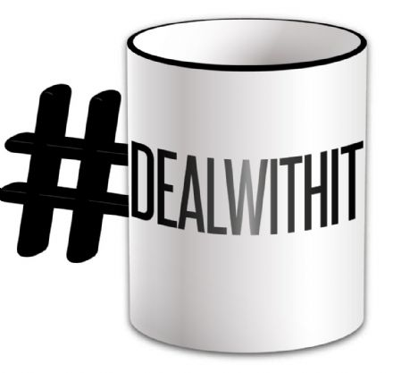 # Deal With It Funny Novelty Mug